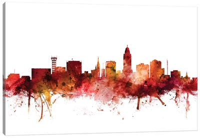 Lincoln, Nebraska Skyline Canvas Art Print