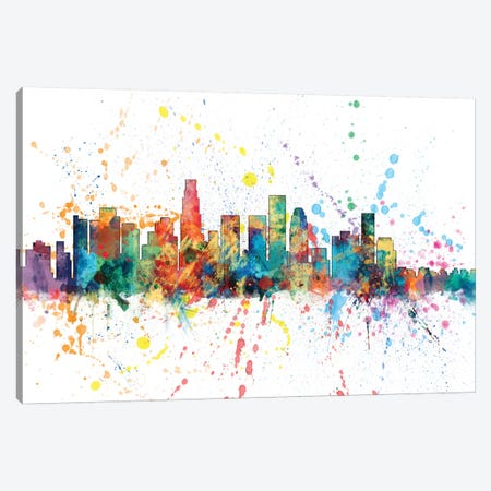 Los Angeles, California, USA Canvas Print #MTO143} by Michael Tompsett Canvas Wall Art