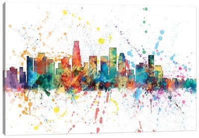 Rainbow Splash Skyline Series: Los Angeles, California, USA Canvas Print #MTO143