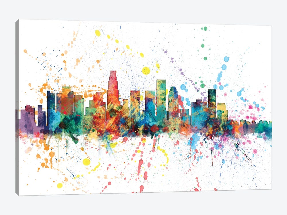 Los Angeles, California, USA by Michael Tompsett 1-piece Canvas Print