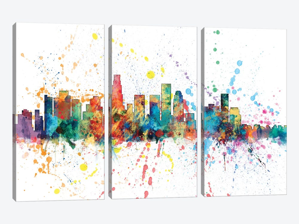 Los Angeles, California, USA by Michael Tompsett 3-piece Canvas Print