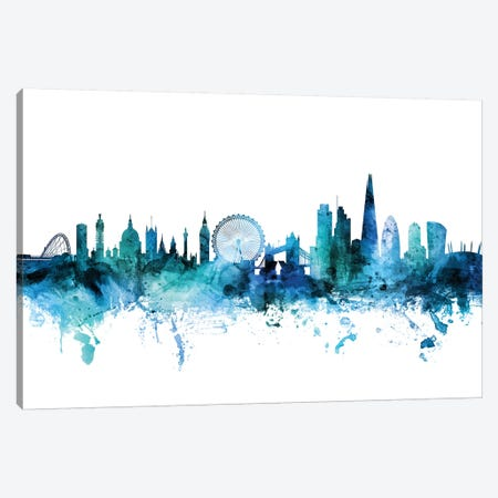 London, England Skyline Canvas Print #MTO1442} by Michael Tompsett Canvas Art