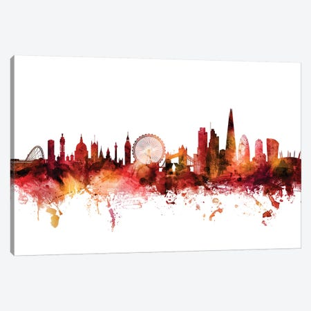 London, England Skyline Canvas Print #MTO1443} by Michael Tompsett Canvas Art