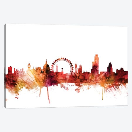 London, England Skyline Canvas Print #MTO1444} by Michael Tompsett Canvas Print