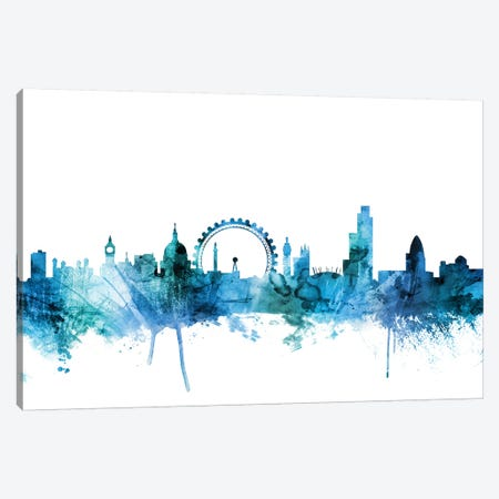 London, England Skyline Canvas Print #MTO1445} by Michael Tompsett Canvas Art Print