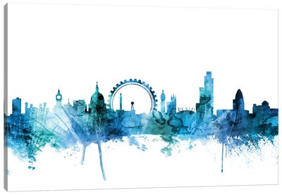 London, England Skyline Canvas Art Print