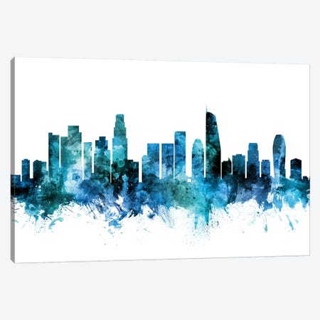 Los Angeles, California Skyline Canvas Print #MTO1446} by Michael Tompsett Canvas Art Print