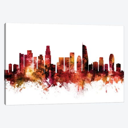 Los Angeles, California Skyline Canvas Print #MTO1447} by Michael Tompsett Canvas Print