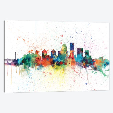 Louisville, Kentucky, USA Canvas Print #MTO144} by Michael Tompsett Art Print