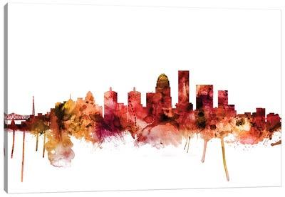 Louisville, Kentucky City Skyline Canvas Art Print