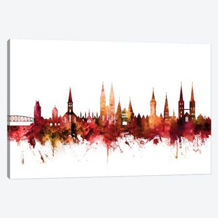Lubeck, Germany Skyline Canvas Print #MTO1452} by Michael Tompsett Canvas Art Print