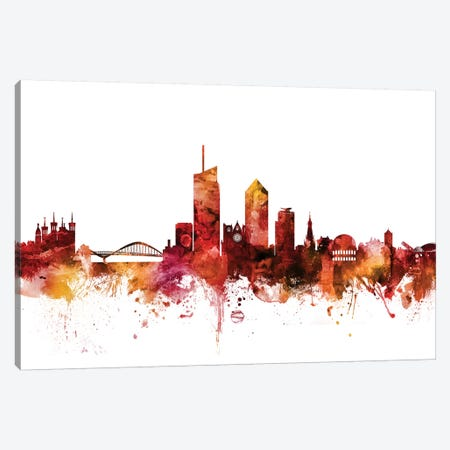 Lyon, France Skyline Canvas Print #MTO1458} by Michael Tompsett Canvas Art Print
