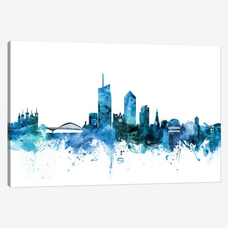 Lyon, France Skyline Canvas Print #MTO1459} by Michael Tompsett Canvas Print