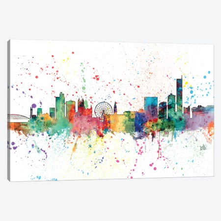 Manchester, England, United Kingdom Canvas Print #MTO145} by Michael Tompsett Art Print