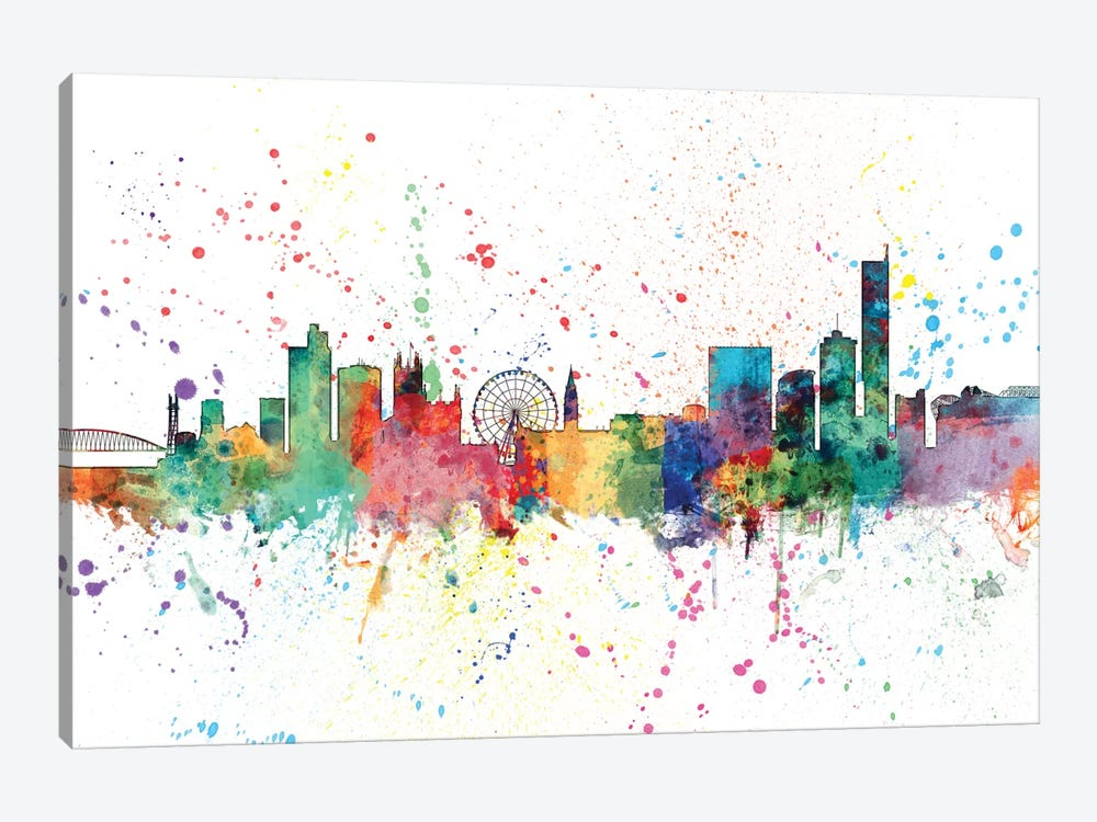 Manchester, England, United Kingdom by Michael Tompsett 1-piece Canvas Print