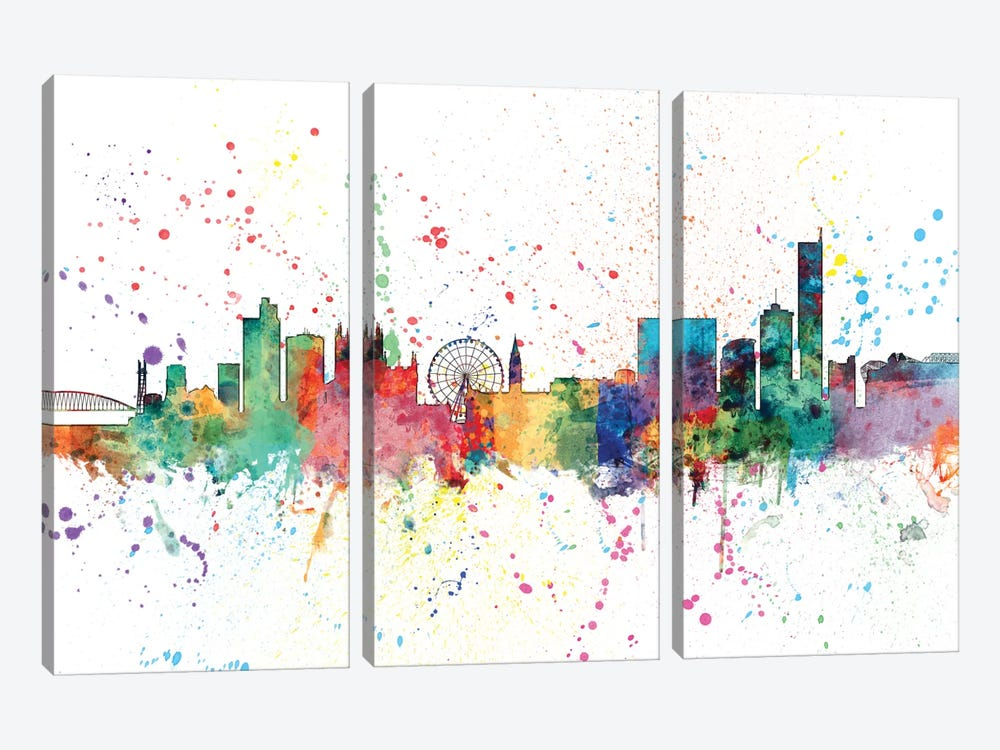 Manchester, England, United Kingdom by Michael Tompsett 3-piece Canvas Art Print