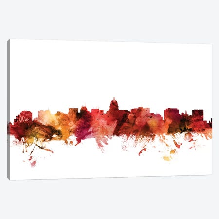 Madison, Wisconsin Skyline Canvas Print #MTO1460} by Michael Tompsett Canvas Artwork