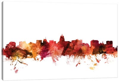 Madison, Wisconsin Skyline Canvas Art Print