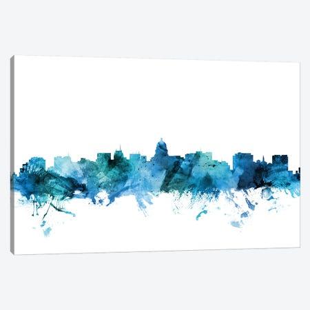 Madison, Wisconsin Skyline Canvas Print #MTO1461} by Michael Tompsett Canvas Art