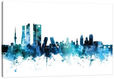 Madrid, Spain Skyline Canvas Art Print