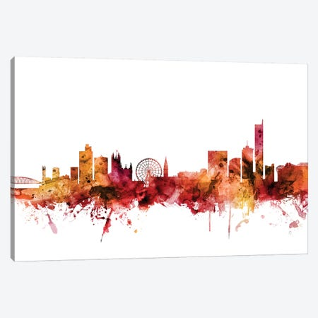 Manchester, England Skyline Canvas Print #MTO1466} by Michael Tompsett Canvas Print