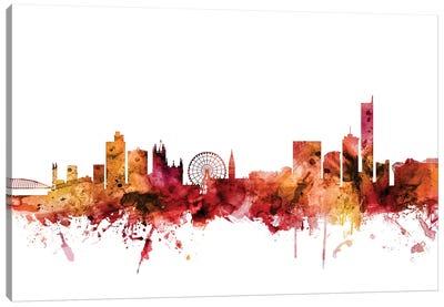 Manchester, England Skyline Canvas Art Print