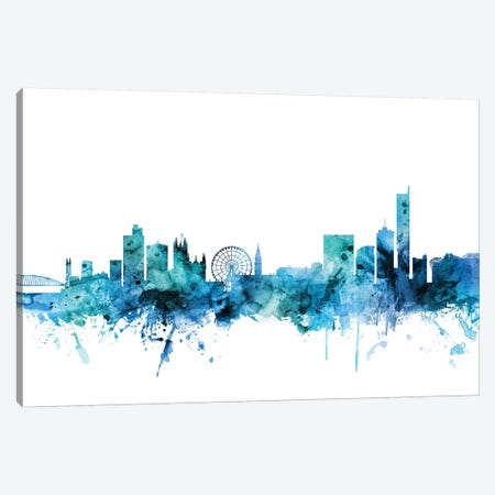 Manchester, England Skyline Canvas Print #MTO1467} by Michael Tompsett Canvas Print