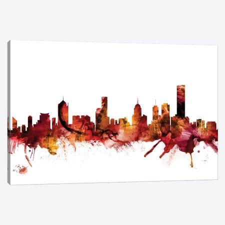 Melbourne, Australia Skyline Canvas Print #MTO1468} by Michael Tompsett Canvas Wall Art