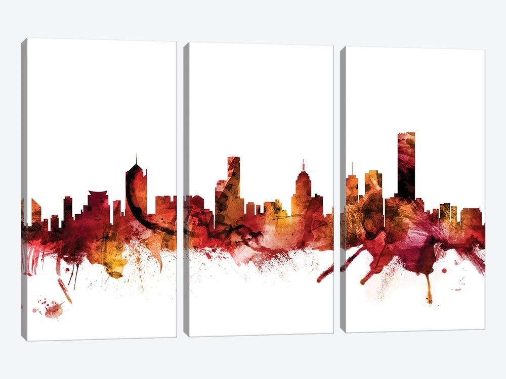 Melbourne, Australia Skyline by Michael Tompsett 3-piece Canvas Artwork