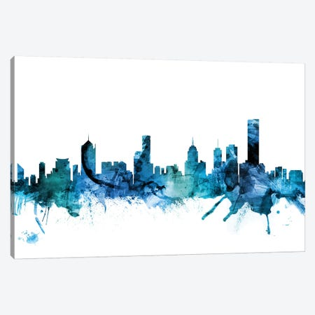 Melbourne, Australia Skyline Canvas Print #MTO1469} by Michael Tompsett Canvas Wall Art