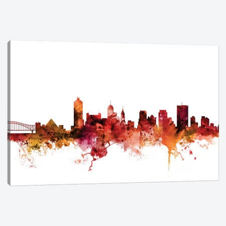 Memphis, Tennessee Skyline Canvas Print #MTO1470} by Michael Tompsett Art Print