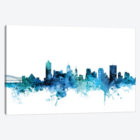 Memphis, Tennessee Skyline Canvas Print #MTO1471} by Michael Tompsett Canvas Print