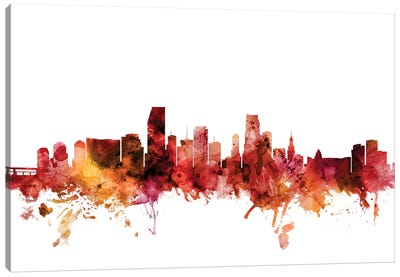 Miami, Florida Skyline Canvas Art Print