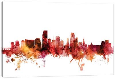 Miami, Florida Skyline Canvas Art Print