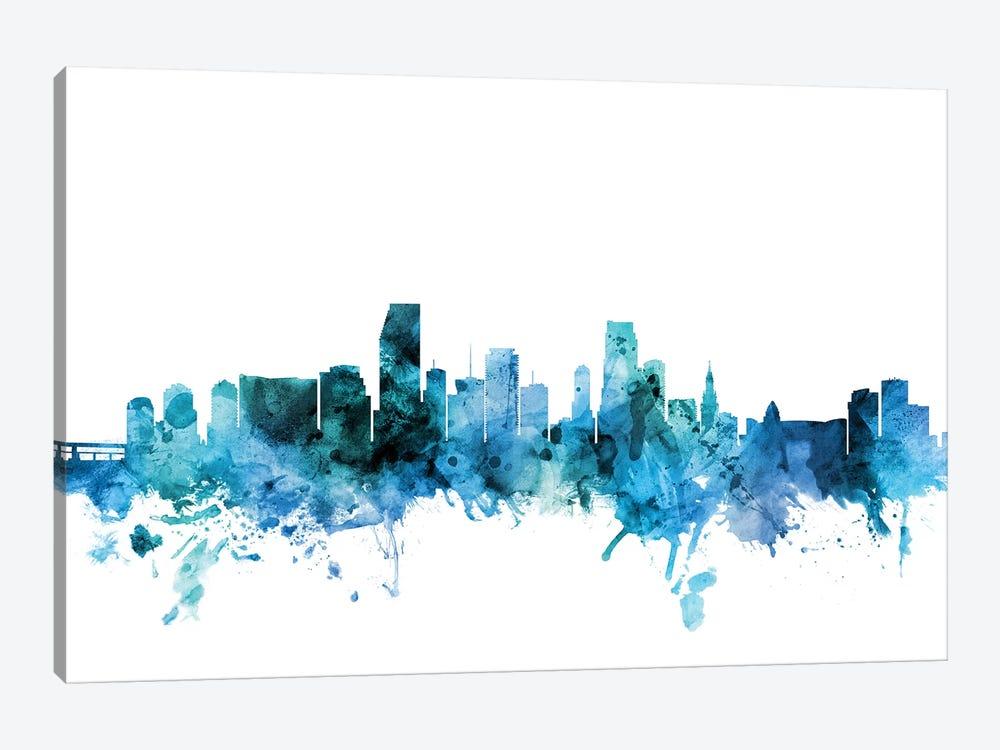 Miami, Florida Skyline by Michael Tompsett 1-piece Canvas Artwork