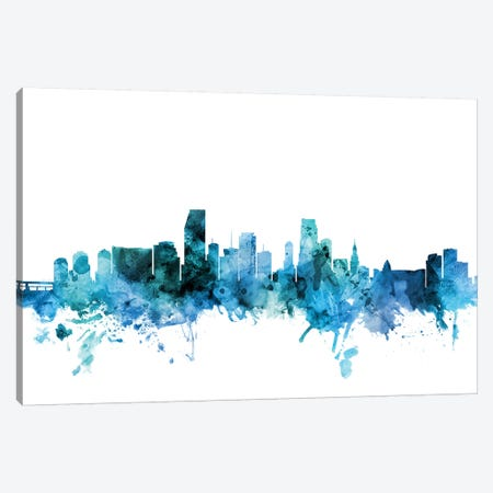 Miami, Florida Skyline Canvas Print #MTO1473} by Michael Tompsett Canvas Print