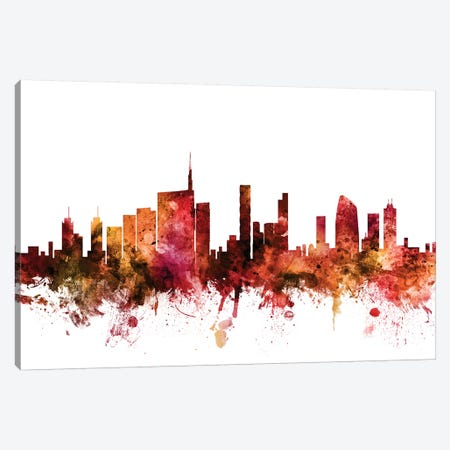 Milan, Italy Skyline Canvas Print #MTO1476} by Michael Tompsett Canvas Wall Art