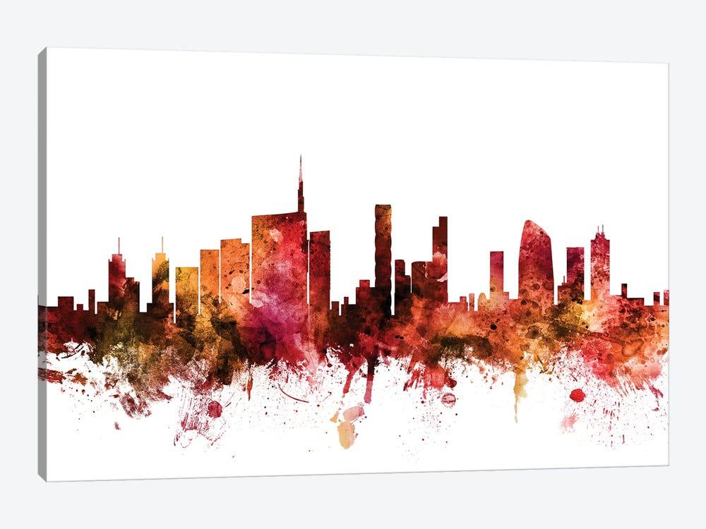 Milan, Italy Skyline by Michael Tompsett 1-piece Canvas Print