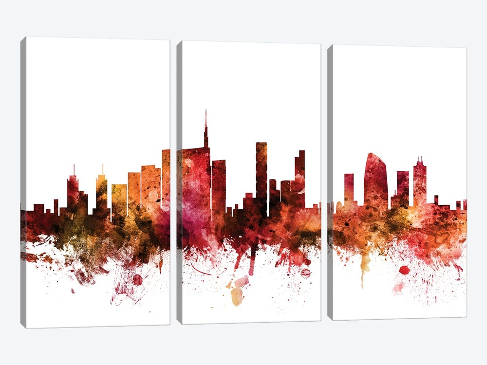 Milan, Italy Skyline by Michael Tompsett 3-piece Art Print