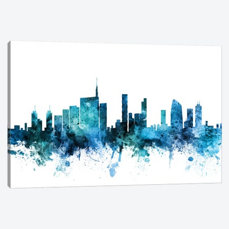 Milan, Italy Skyline Canvas Print #MTO1477} by Michael Tompsett Canvas Artwork