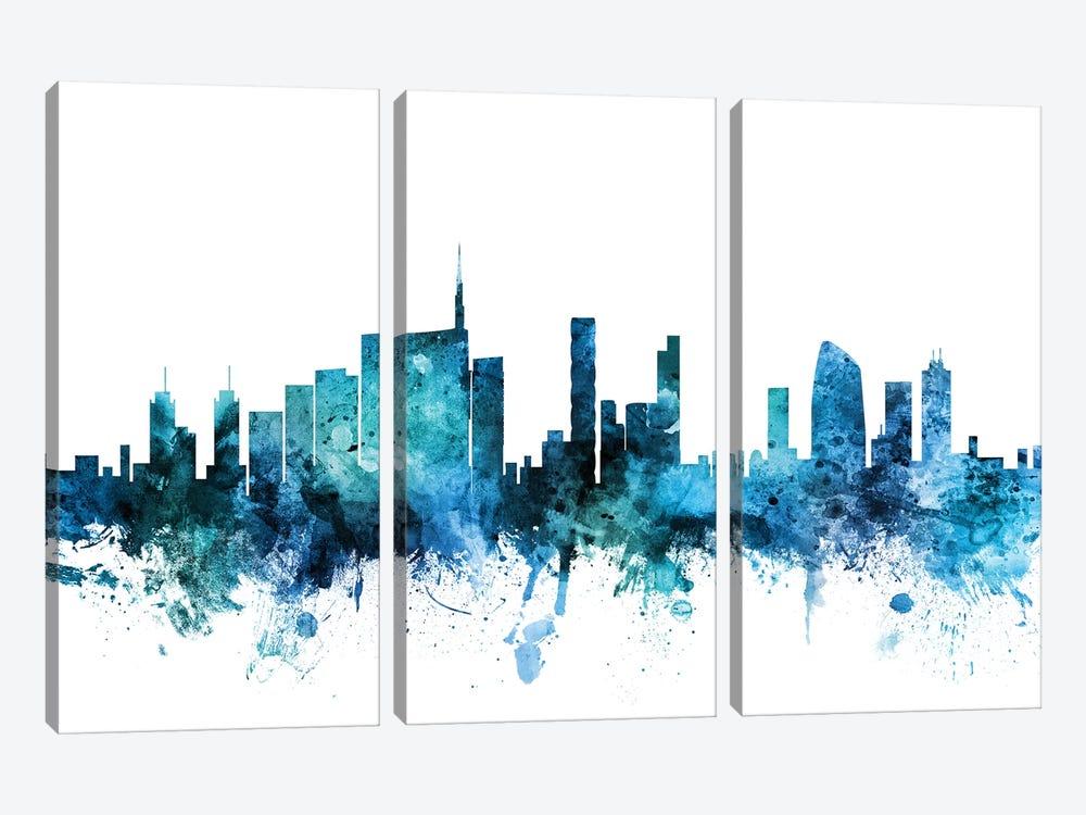Milan, Italy Skyline by Michael Tompsett 3-piece Canvas Wall Art