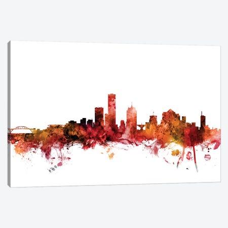 Milwaukee, Wisconsin Skyline Canvas Print #MTO1478} by Michael Tompsett Canvas Art Print