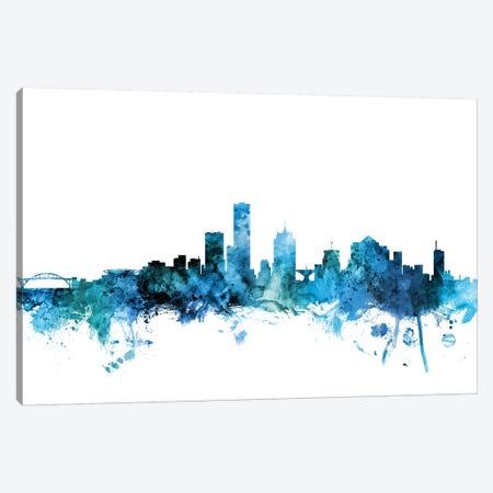 Milwaukee, Wisconsin Skyline Canvas Print #MTO1479} by Michael Tompsett Canvas Print