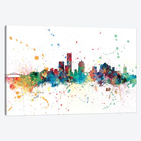 Milwaukee, Wisconsin, USA Canvas Print #MTO147} by Michael Tompsett Canvas Art Print