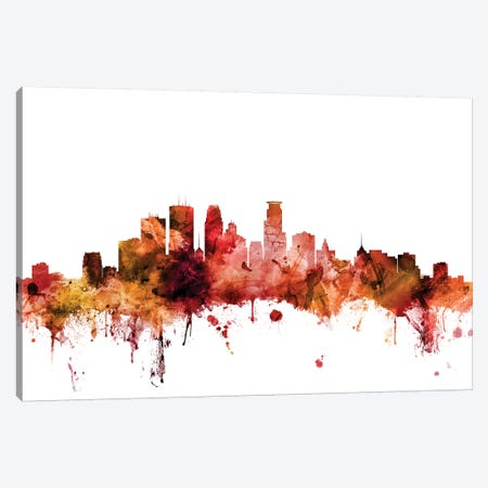 Minneapolis, Minnesota Skyline Canvas Print #MTO1480} by Michael Tompsett Canvas Art
