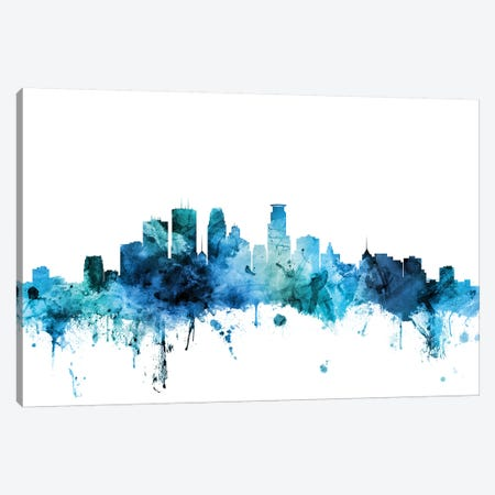 Minneapolis, Minnesota Skyline Canvas Print #MTO1481} by Michael Tompsett Canvas Artwork