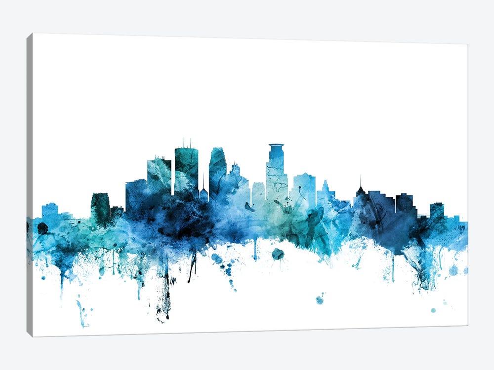 Minneapolis, Minnesota Skyline by Michael Tompsett 1-piece Art Print
