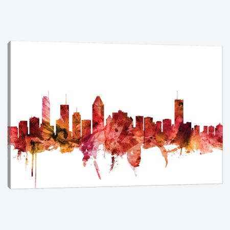Montreal, Canada Skyline Canvas Print #MTO1482} by Michael Tompsett Canvas Wall Art