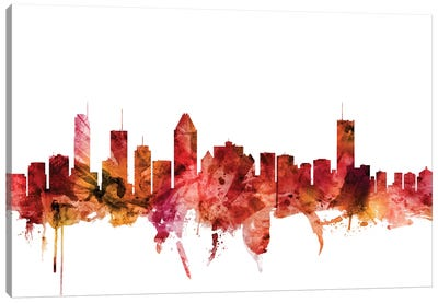 Montreal, Canada Skyline Canvas Art Print