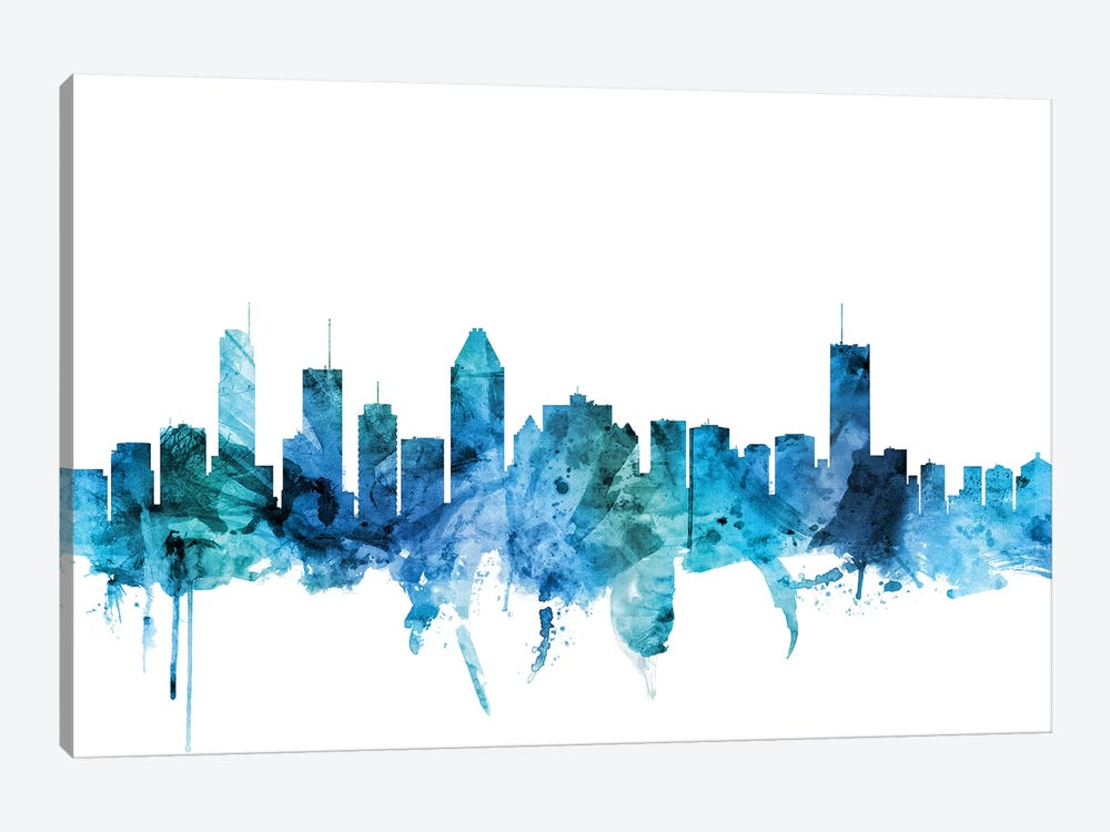 Montreal, Canada Skyline by Michael Tompsett 1-piece Canvas Print